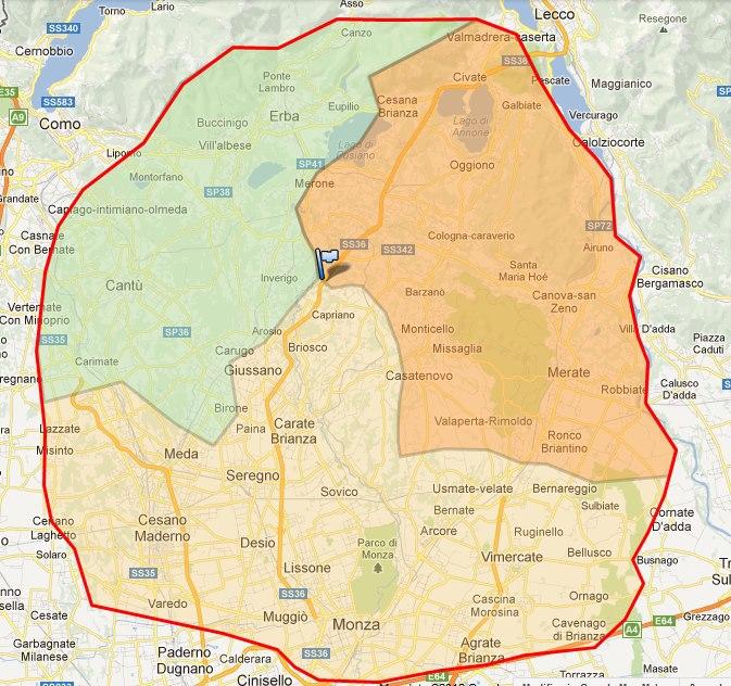 Cartina Geografica Della Brianza.Fra Piattej Bagiaa E Picett Ecco La Mappa Dei Soprannomi Degli Abitanti Della Brianza Lecchese