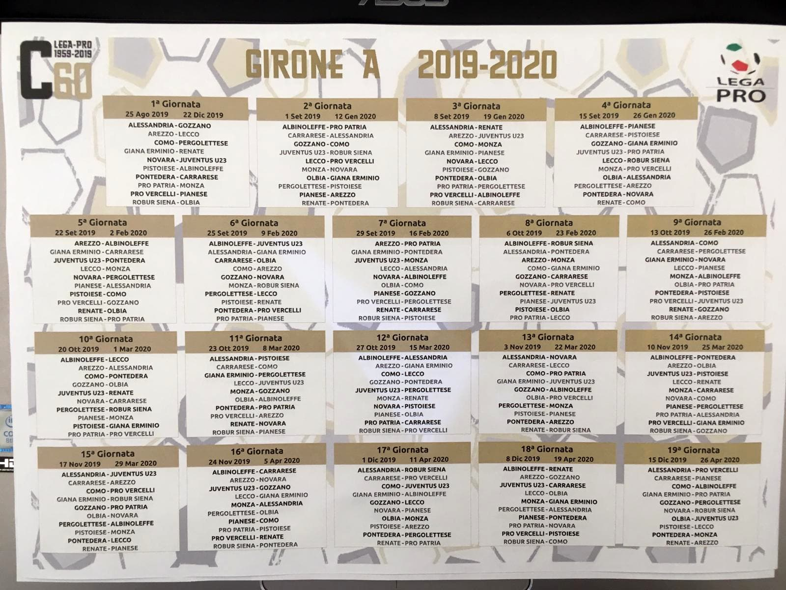 calendario-lega-pro-girone-a-2019-2020