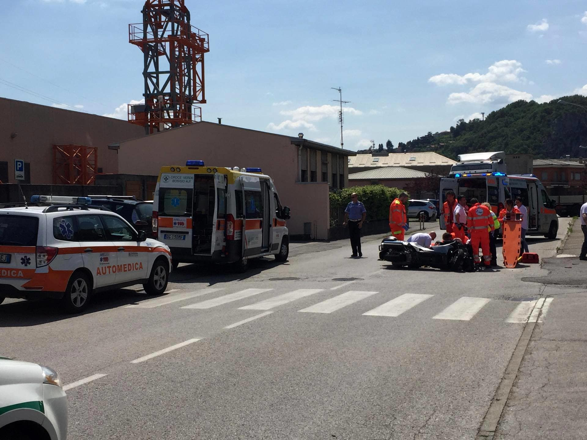 valmadrera incidente moto-2