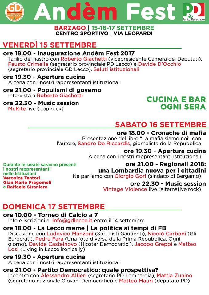 festa democratica barzago 2017-2