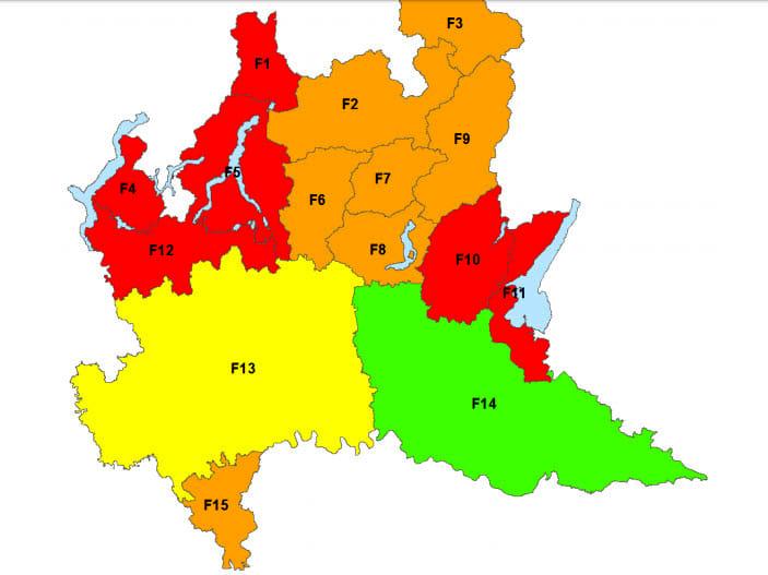 cartina allerta incendi gennaio 2018-2
