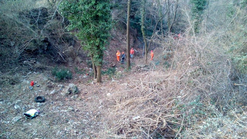 pulizia bosco alpini perledo strada vezio febbraio 2019 (3)-2