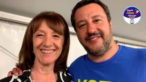 Anna Clara Bassani con Matteo Salvini-2