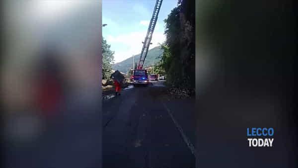 Caduta massi in strada: chiusa la Provinciale 72 in località Bogino