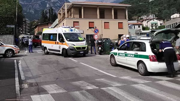 Mandello incidente Polizia locale-2