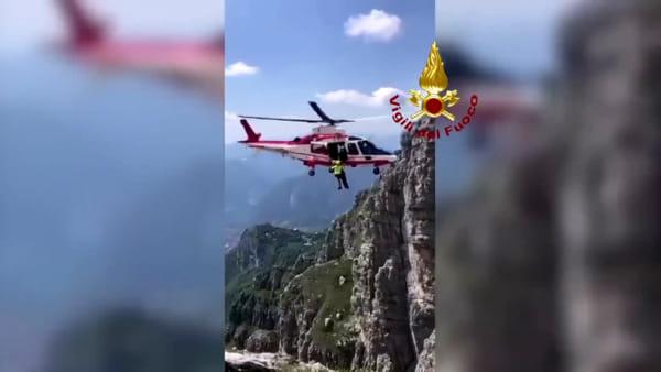 Salvataggio dei pompieri sul Resegone: l'intervento raccontato con un video sul canale nazionale