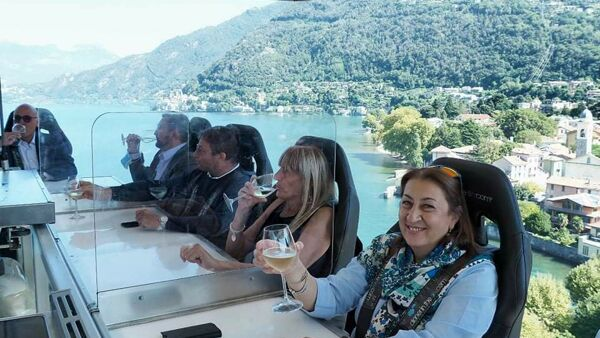 """Dinner in the sky"" a Lecco (Foto Elisa Calogero)"