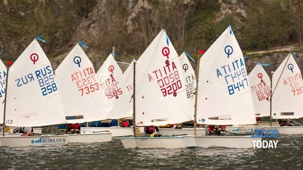Riccardo Colombo e Max Shaposhikow al comando dell'Interlaghina Optimist - Trofeo Banca Mediolanum