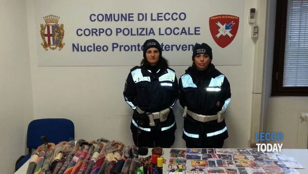 Lecco prosegue la lotta al commercio di merce contraffatta