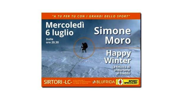 Simone Moro ospite da DF Sport Specialist di Sirtori
