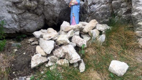 statua madonna sasso della vecchia monte barro distrutta foto saul ripamonti (2)-2