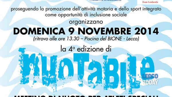 """""""Nuotabile"""" quarta edizione meeting di nuoto per atleti speciali"""
