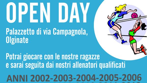Volley, open day gratuiti a Olginate