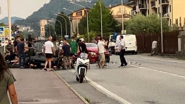 L'incidente avvenuto a Garlate (foto da Facebook).