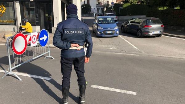 Polizia locale deviazione traffico dalla 639-2