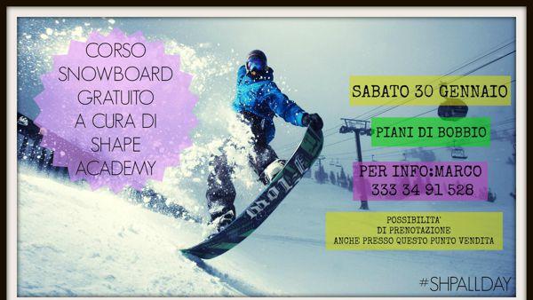 Corso gratuito di snowboard