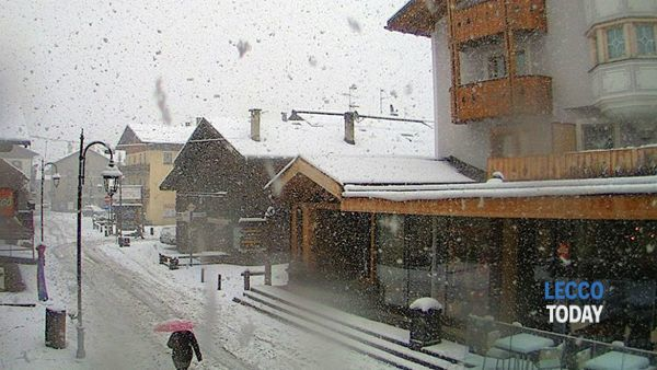 Nevica su Livigno (Webcam Valtline.it)