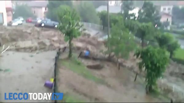Piogge torrenziali, frane, straripamenti: nuova emergenza in Valsassina